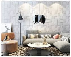 Beibehang 3d Stereo Nordic Black And White Plaid Wall Paper