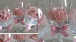 diy light bling dollar tree wine glass rose decor 2018