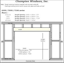 Window And Door Header Size Chart Compreendo Co