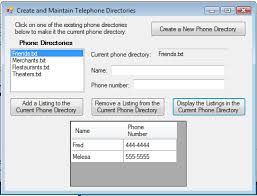 Telephone Listing Help With Telephone Directory Program Almost Done Vb Net