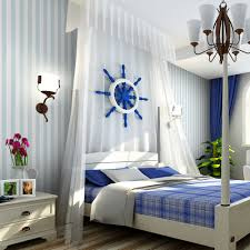 white striped wallpaper bedroom walls