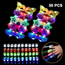 Glow Light Toys Led Light Up Toys 50 Pcs Party Favors 10 Light Up Glasses 40