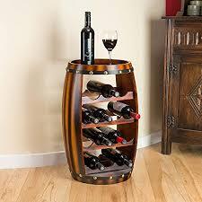 wood barrel furniture. Christow Wooden Barrel Wine Rack Wood Bottle Holder Table Top 14 Bottles H64.5cm Furniture