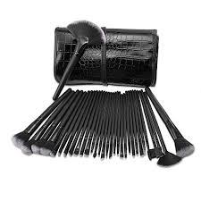qivange makeup brushes set with travel makeup pouch 32pcs make up brushes