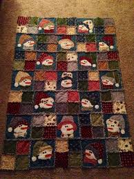 Snowman Rag Quilt, flannel | Quilted Christmas | Pinterest | Rag ... & Snowman Rag Quilt, flannel Adamdwight.com
