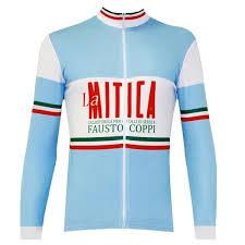 La Mitica Retro Winter Long Sleeve Cycling Jersey Long