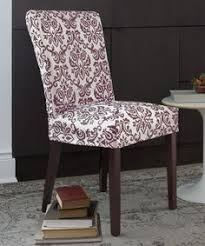this noir chelsea non stretch short dining chair slipcover is perfect