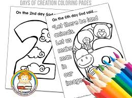 7 Days Of Creation Coloring Pages Free E Printable Bible
