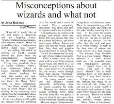 funny article in high school paper