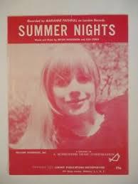 Pop Charts 1965 Details About Summer Nights Sheet Music Marianne Faithfull 1965 Pop 24 Hit