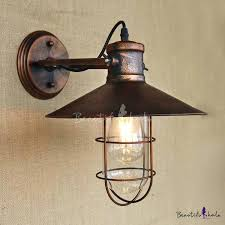 copper bathroom light fixtures single light antique copper nautical led wall sconce with cage hammered copper vanity light fixtures