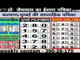 12 06 2019 Kalyan Mumbai Weekly Chart Free Kalyan Open Today