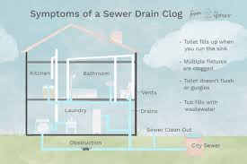 symptoms of a sewer drain clog