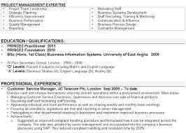 Cv Profile Examples Career Change Career Change Resume