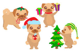 Are you searching for christmas hat png images or vector? Set Of 4 Christmas Dogs Svg Cut Files Human Vectors 51 000 Free Files In Ai Eps Format