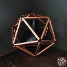 copper lighting fixture. copper lighting fixture diy pipe icosahedron pendant light wwwthegatheredhomecom tutorial geometric