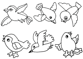 Flying Bird Coloring Page Picture Colouring Pages Blue Color