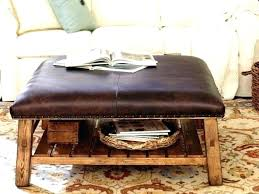 rustic leather ottoman rustic ottoman rustic leather ottomans rustic leather ottoman coffee table more rustic leather
