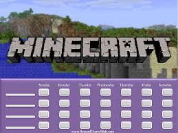 Minecraft Sticker Chart Minecraft Reward Chart Behaviour Chart Printable Reward