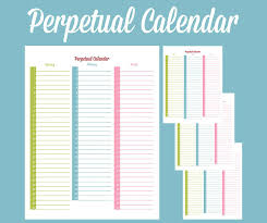 Forever Calendar Template Perpetual Calendar Calendar Template Free Premium Templates