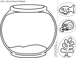 Printable Coloring Pages color pages of fish : Fish Bowl Coloring Pages - GetColoringPages.com