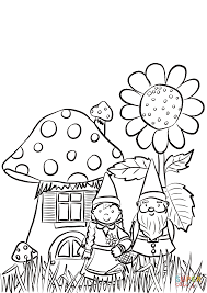 Small Picture Garden Gnomes Family Coloring Page In Gnome Coloring Pages