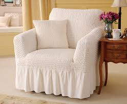 armchair covers. Charming Arm Chair Covers Valanced Armchair Cover And Cushion Review C