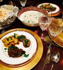 elegant indian dinner party