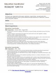 Education Coordinator Resumes Education Coordinator Resume Samples Qwikresume
