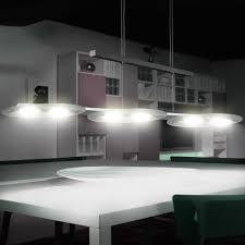 Led Luxus Pendel Hänge Leuchte Esszimmer Alu Glas Lampe