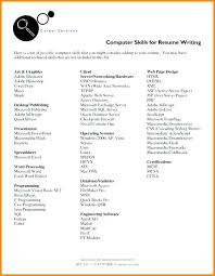 Skills To List On Resume Enchanting 4040 What Software Skills To List On Resume Lawrencesmeats