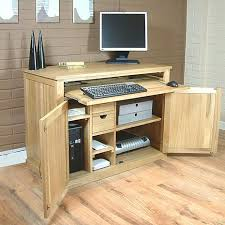 atlas chunky oak hidden home. mobel oak hidden home office furniture solutions atlas chunky i