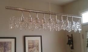 linear chandelier dining room 3 veranda linear chandelier beautiful picture