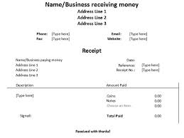 Word Receipts Free Receipt Forms