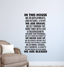 Military Love Quotes Impressive In This House Military Wall Decal QuotesArmyAir Etsy