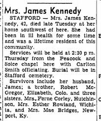 Lucille McGregor Kennedy Obituary 21 May 1958 - Newspapers.com