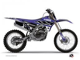 yamaha 250 dirt bike. yamaha 250 yzf dirt bike replica graphic kit blue