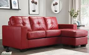 rio red leather l shape corner sofa