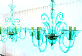 green toile lamp shade chandeliers sea glass chandelier shades
