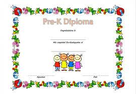 Pre Kindergarten Diploma Certificate 2 Professional And Pre