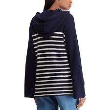 Chaps Womens Size Chart Womens Chaps Hooded Striped Sweater In 2019 Sweaters