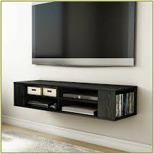 ... Shelves For Wall Mount Tv Modern Design Wide Space Strong Wooden  Material Large Square Brown Stayed ...