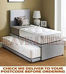 HEAVENLYBEDS @ SINGLE GUEST BED 3 IN 1 WITH UNDER BED PULL OUT BED WITH 2  MATTRESSES HEADBOARD DEEP QUILTED MATTRESS: Amazon.co.uk: Kitchen & Home