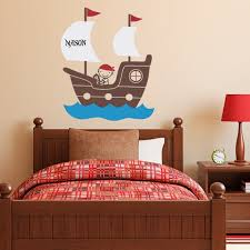 pirate ship wall decal with