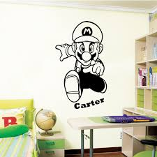Mario Bedroom Super Mario 1 Wall Decal Art Sticker Children Nursery Bedroom