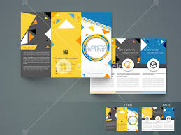 Creative Abstract Trifold Brochure Template Or Flyer Design