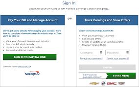 Gm Card Login Gm Credit Card Login Register Complete Step By