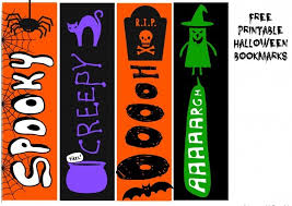 Free printable halloween bookmarks in pdf format. Free Printable Halloween Bookmarks