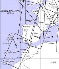 Jeppesen High Altitude Enroute Charts High Altitude Enroute Chart Europe Hi 5 6 France Spain Portugal Canary Islands Jeppesen E Hi 5 6