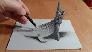 how to make 3d paintings on paper 3d drawing hole trick art on
